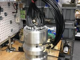 Fully assembled 100-kW, 12,000-rpm brushless doubly-fed machine prototype